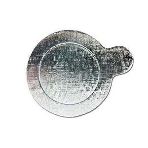 Base Para Doce Redonda 8cm Prata 20un