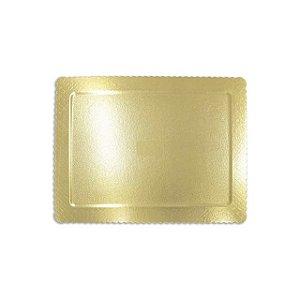 Prato Cake Board Retangular 40x30cm Ouro
