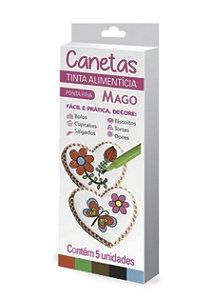 Caneta Decoracao 5 Cores