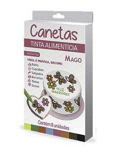 Caneta Decoracao Ponta Fina 8 Cores