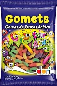 Gomets Goma Minhoca Acida 600g Dori