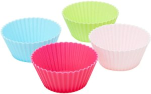 Jogo De Forminha Redonda Silicone Para Muffins 12un