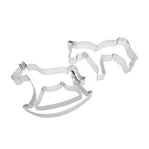 Kit Cortador Cavalo 2 Pecas (Inox) 8x2