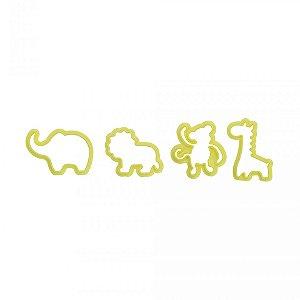 Kit Cortador Plastico Animais Cod 1 Com  4 Pcs