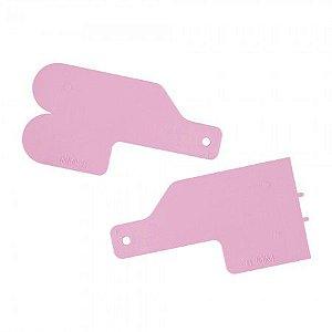Kit Para Decoracao Mini Espatulas 3 Rosa Bebe