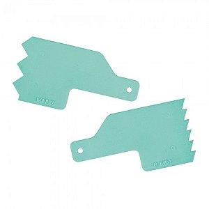 Kit Para Decoracao Mini Espatulas 4 Verde Tiffany