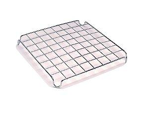 Descanso Panela Metal Cromado 9x9cm