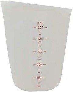 Copo Medidor Silicone 500ml 11x14,5cm