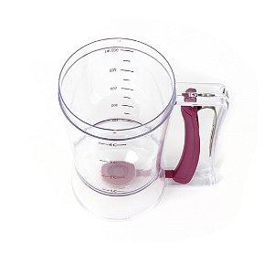 Dosador Massa Plastico 900ml Transp Vinho