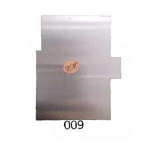 Espatula Decorativa (Inox) 12x10cm Modelo 009