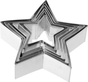 Conjunto 6 Cortador Biscoito Formato Estrela