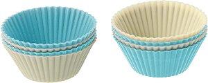 Conjunto Formas Silicone Para Cupcake Com 8 Pcs
