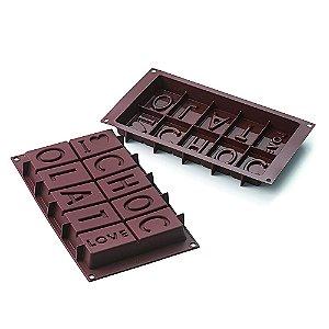 Forma Silicone Para Chocolate Love Com 1