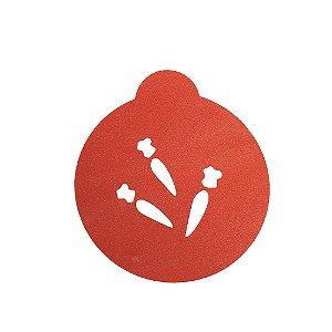Stencil Cupcake Cenoura Ref 1395 1un