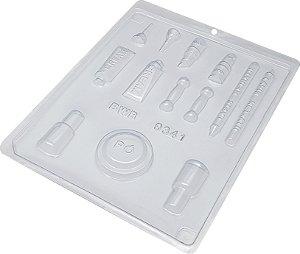 Forma De Acetato Simples N.9341 Kit Maquiagem