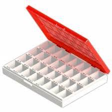 Caixa para Bandas Ortodônticas Anatômicas Superior Direito Cor Vermelha