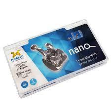 """Kit de Bráquetes 01 caso Prescrição Roth Nano .022"""" Can. 9° Ang. Gancho Can./Prés"""