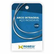 "Arco Intraoral Inferior CrNi Retangular 0,48x0,63mm (.019""x.025"")"