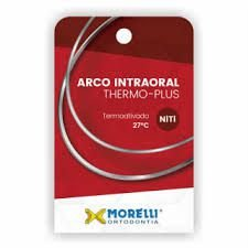 "Arco Intraoral Thermo Plus Médio NiTi Ret. 0,43x0,63mm (.017""x.025"")"