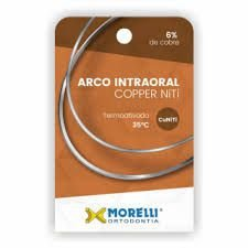 "Arco Intraoral Copper NiTi 35°C Inferior Retangular 0,35X.0,63mm (.014X.025"")"