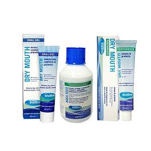 Kit - Enxaguatório Bucal + Oral Gel + Creme Dental - BioXtra
