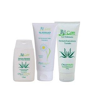 Kit Médio Radioterapia Oncosmetic - Sabonete + Gel Refresecante + Gel Hidratante