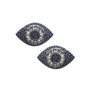 Brinco zircônia olho grego