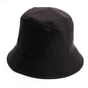 Chapéu bucket liso preto