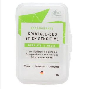 Desodorante de Pedra Natural Stick Kristall Sensitive 90g - Alva