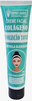 Creme Facial Colágeno Esfoliação Total Capim Limão