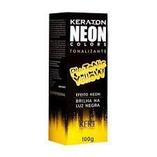 Keraton Neon Colors Tonalizante Plutonic Yellow 100g