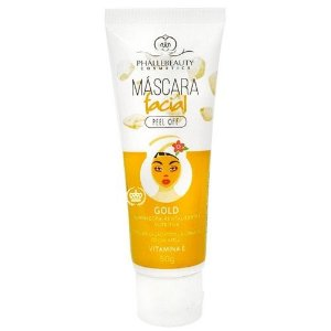 Máscara Facial Gold Peel Off Phállebeauty 50g