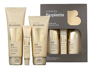 Kit Lowell Bioplastia Reconstrutor Manutenção Shampoo+Condicionador+ Ampola