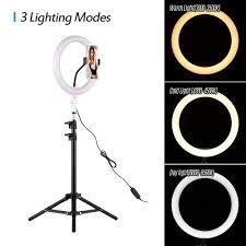 RING LIGHT FILL 26CM ADJUSTABLE 3 COLORS DIMMABLE