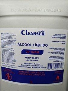Álcool Líquido 70% Cleanser 5L