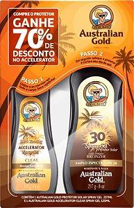 Kit Bronzeador e Spray Australian Gold