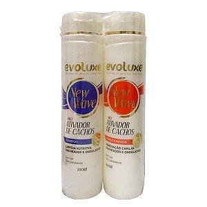 Kit Shampoo e Condicionador Evoluxe New Wave 300ml