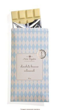 tablete de chocolate branco artesanal, 80g