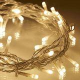 Luz Natalina Amarela 400 LEDs 9,5m 220V Cordão Branco