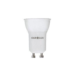 Lâmpada LED Mini Dicróica 4W Bivolt Luz Branca MR11  - Ourolux
