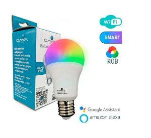 LÂMPADA BULBO SMART 9W RGB - GAYA