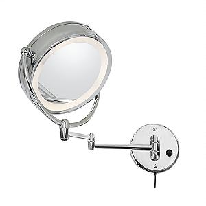 Espelho Duplo Fixo com Iluminação Redondo (5X)