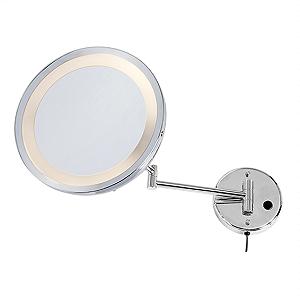 Espelho Fixo com Iluminação Redondo (5X)