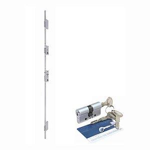 Fechadura de segurança 03 pontos com auxiliar 16 pinos