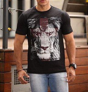 Leão de Judá - cruz vermelha (C) Preta