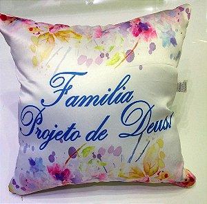 ALMOFADA FAMILIA PROJETO DE DEUS