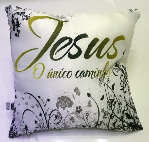 ALMOFADA JESUS UNICO CAMINHO