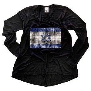 BANDEIRA ISRAEL (BT) - MANGA LONGA
