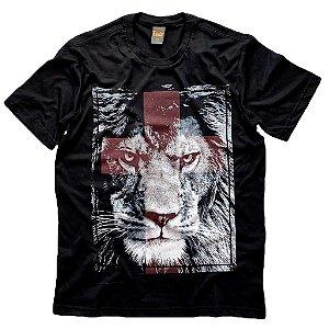 Leão de Judá - cruz vermelha (C) preta G2