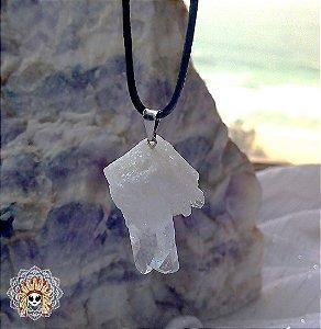 Colar Cristal Quartzo branco. Cristal de limpeza, purificação e cura.